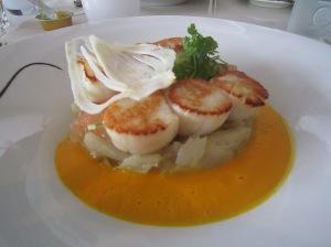 Noix de St Jacques, Virage Restaurant Bar, Monaco