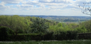 View across the Dordogne Valley from Chateau Moulin Caresse