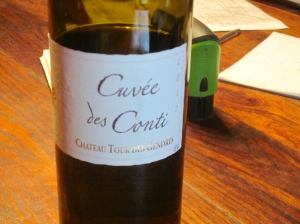 Tasting the Cuvée des Conti at Chateau Tour des Gendres