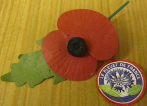 The Poppy and Le Bleuet - Remembrance Symbols