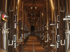 Krug - individual vats for first fermentation from individual plots