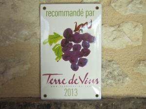Terre de Vins 2013 recommendation