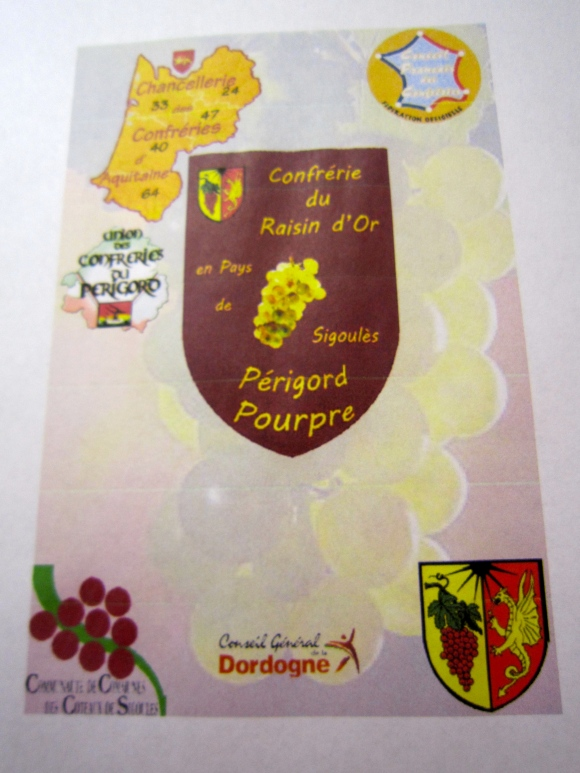 The Confrérie du Raisin D'Or de Sigoulès