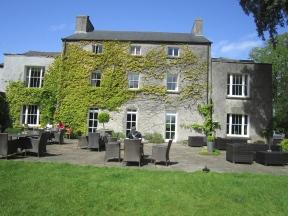 Fairyhill Hotel terrace garden