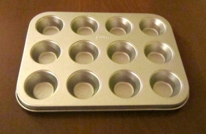 Baking tin for individual soufflés
