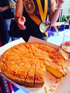 Gateaux Basque with glass of Monbazillac