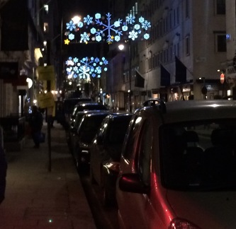 Christmas lights in Mayfair