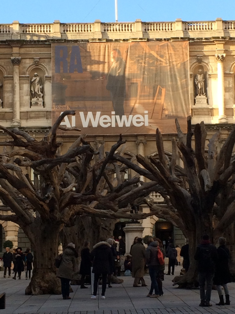 Royal Academy of Art - Ai Weiwei's man made forest installation