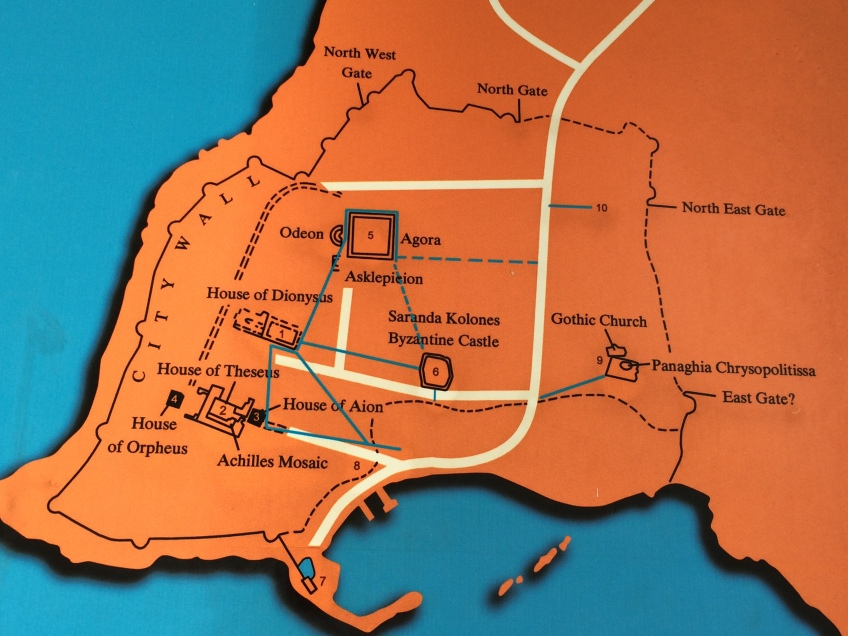 Pafos Archeological Site map