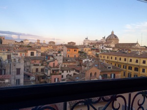Rooftop view of Rome
