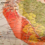 Part of the Bordeaux wine region showing Loupiac AC near Cadillac