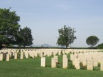 Cassino cemetery graves
