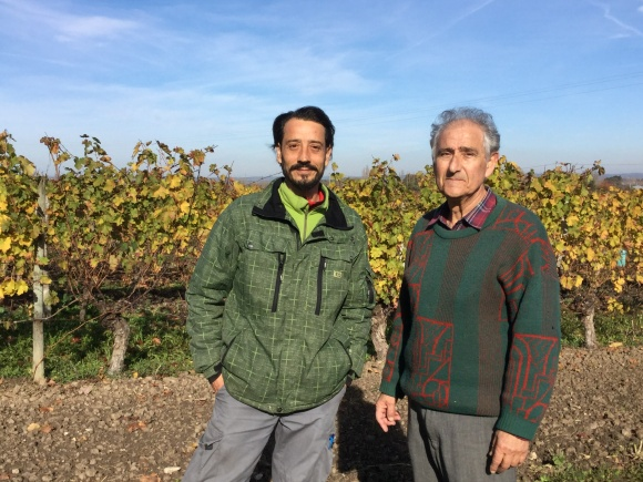 Pierre Sadoux, father and son, Chateau Court les Mûts, Vigneron of the Year 2018, Bergerac Wine Region, Guide Hachette