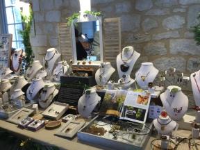 Caprice de Vigne jewelry stand at the Marché de Noël, Saussignac