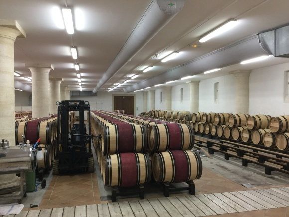 The Chai at Chateau Haut-Brion where young wine is aged in barrels