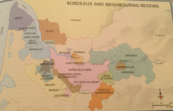 Bordeaux wine areas