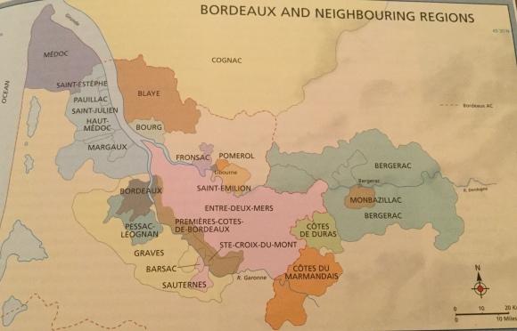 Bordeaux wine areas