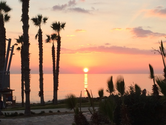 Sunset at Paphos, Cyprus