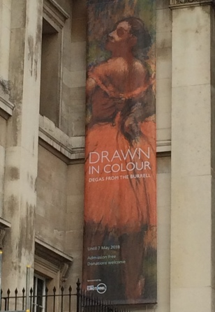Degas exhibition poster at the National Gallery