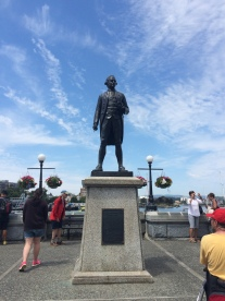 Captain Cook who sailed into Nootka Sound in 1778 with MidShipman George Vancouver