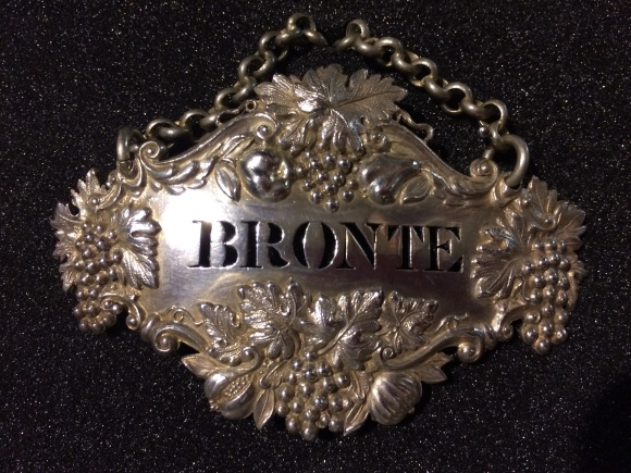 Bronte silver wine label, made by Reilly and Storer, London, 1830