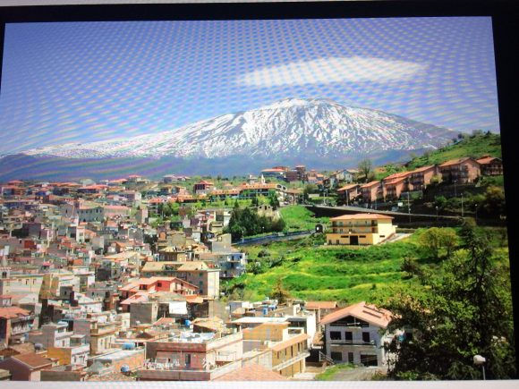 Bronte community in the shadow of Mount Etna, Sicily