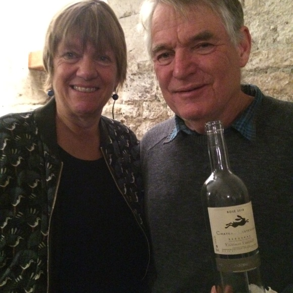 Sue and Humphrey Temperley, proprietors of Château Lestevenie