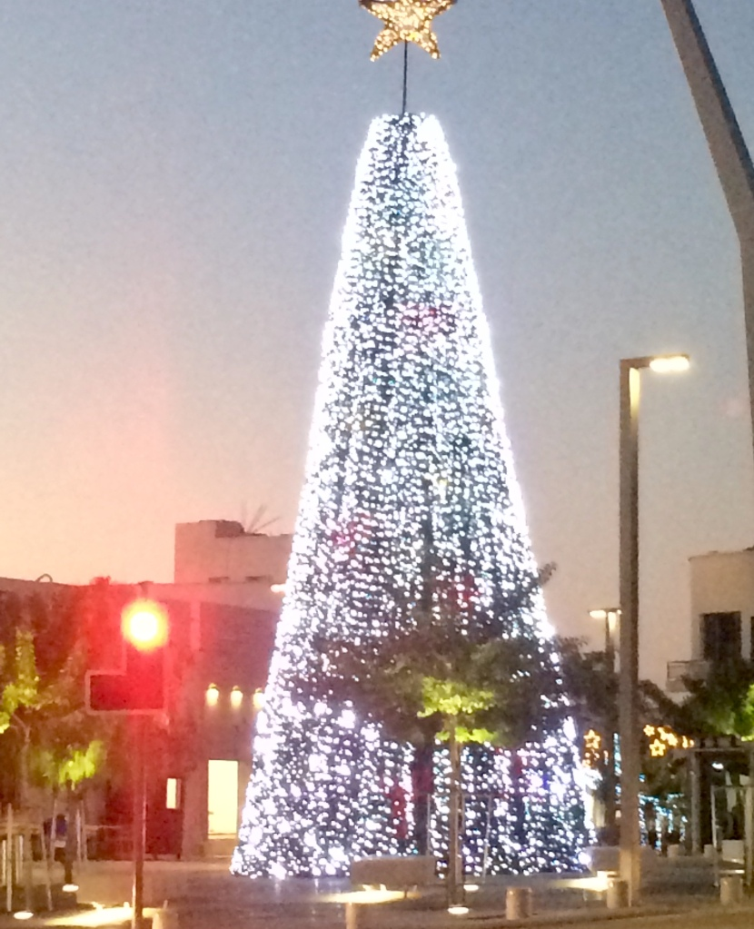 A Christmas tree of lights