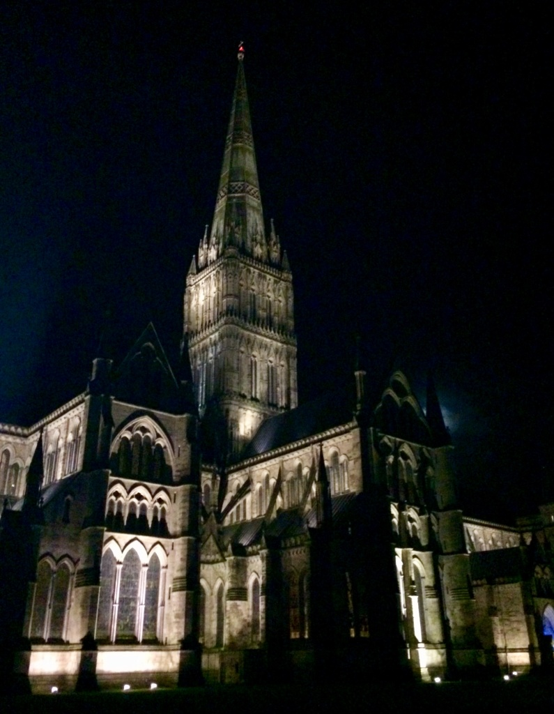 Salisbury Cathedral -silent night after a performance of Handel's Messiah