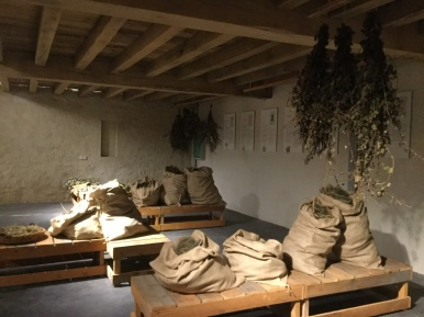The herb drying room, Chateau Monestier la Tour