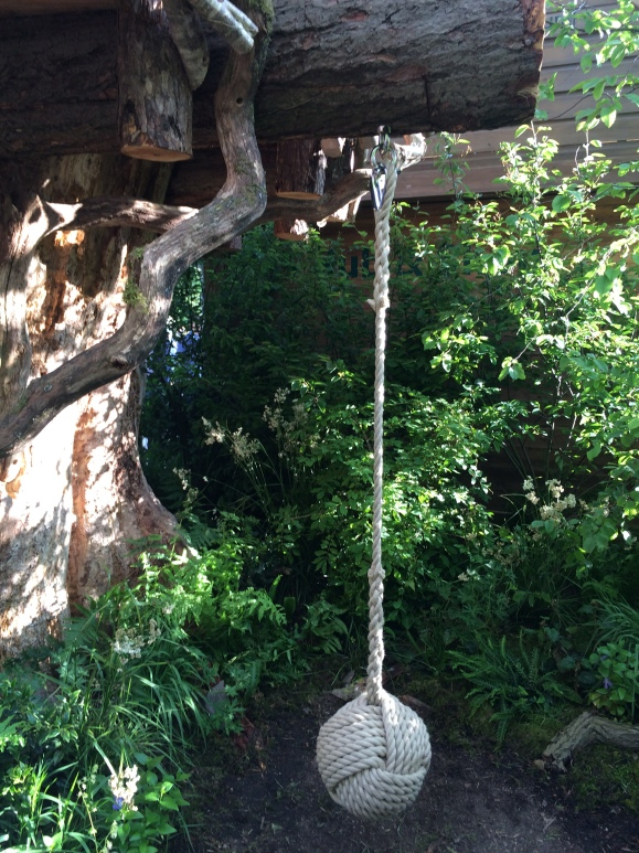 The RHS Back to Nature Garden - recognize the swing?