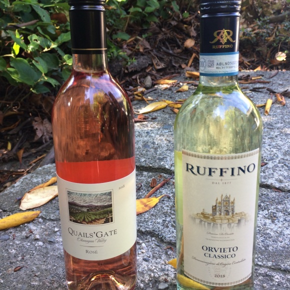 My summer sipping picks: Quails Gate Rosé and Ruffino Orvieto Classico